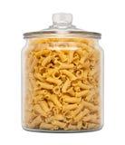 Massa de Campanelle em um frasco de vidro do farmacêutico Imagens de Stock Royalty Free