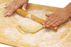 Massa de pão a bordo foto de stock