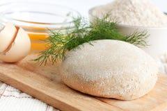 A massa de pão da farinha de trigo, refeição Imagem de Stock