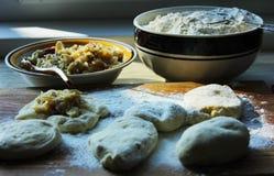 Massa de pão de fermento para o cozimento Imagem de Stock Royalty Free