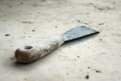 Massa de vidraceiro-faca velha, usada e suja Fotografia de Stock Royalty Free