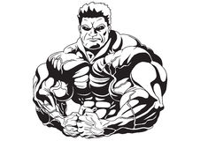 Massa del muscolo illustrazione vettoriale