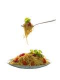 Massa deliciosa com vegetais Foto de Stock Royalty Free