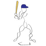 Massa do basebol imagem de stock royalty free