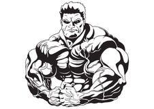 Massa do músculo ilustração do vetor