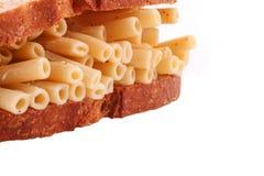 A massa do pão no fundo branco Fotografia de Stock