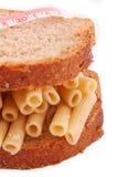 A massa do pão no fundo branco Foto de Stock