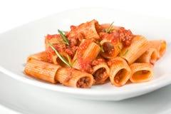 Massa e molho italianos Fotografia de Stock