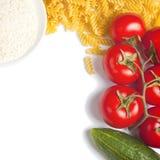 Massa e tomate Foto de Stock