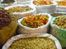 Massa e vegetais secados nos sacos Imagem de Stock
