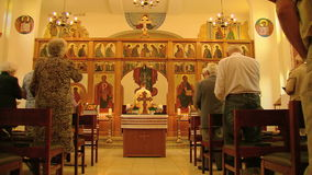 Massa em uma igreja ortodoxa grega filme