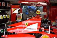 massa felipe ferrari автомобиля подготовляя команду s Стоковое Фото
