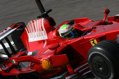 Massa on ferrari f1 Royalty Free Stock Photo