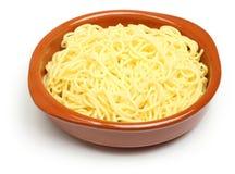Massa fresca cozinhada dos espaguetes imagem de stock
