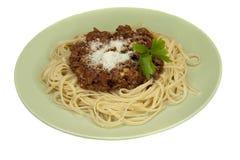 Massa italiana Bolonhês da culinária Fotos de Stock