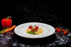 Massa italiana com tomates Imagens de Stock Royalty Free
