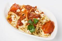 Massa italiana do espaguete Fotografia de Stock