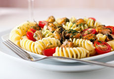 Massa italiana do fusilli Fotografia de Stock Royalty Free