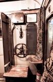 Massa, Italie, le 26 décembre 2018 - chariot où le carnet est situé, du train de locomotive à vapeur 1911 photographie stock libre de droits