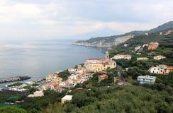 Massa Lubrense Amalfi wybrzeże, Włochy zdjęcie royalty free