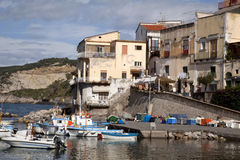 Massa Lubrense. Town on the coast of Italy Stock Image