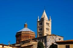 Massa Marittima старый городок в разбивочной Италии Стоковое Изображение RF