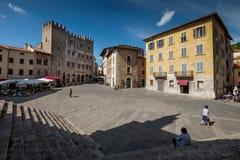 MASSA MARITTIMA, ITALIE - 14 mai 2017 : ville médiévale en Italie, t photos stock