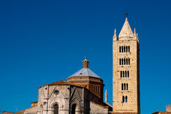 Massa Marittima is an old town in center Italy Stock Images