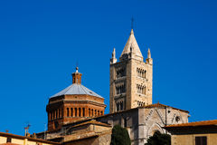 Massa Marittima is an old town in center Italy Royalty Free Stock Image