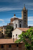 Massa Marittima, Tuscany, medieval town in Italy, the Cathedral Stock Photography