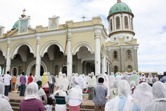 Massa ortodoxo etíope da Sexta-feira Santa imagem de stock