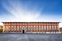 Massa. Palazzo Ducale Ducal Palace. Massa - Carrara. Tuscany. Italy. Massa. Palazzo Ducale Ducal Palace. Overlooking Piazza Aranci, it occupies an entire side stock photos