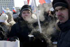 Massa-reunião em Saratov Fotografia de Stock