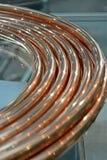 Massa sul vetro, industria moderna del cavo di rame, Immagine Stock