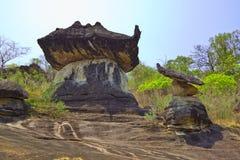 Massa van verbazende steen in Mukdahan Stock Afbeelding