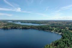 Massabesicmeer in New Hampshire royalty-vrije stock afbeelding