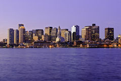 Massachusetts, Boston Skyline at Dawn Royalty Free Stock Photo