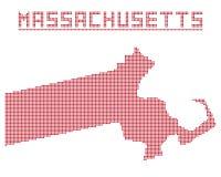 Massachusetts Dot Map Royalty Free Stock Image