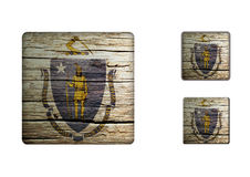 Massachusetts Flag Buttons Royalty Free Stock Photo