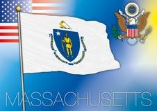 Massachusetts flag Stock Image