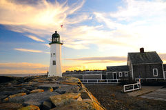 Massachusetts fyr Fotografering för Bildbyråer