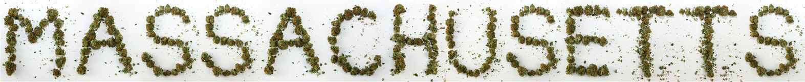 Massachusetts ha compitato con marijuana Fotografia Stock Libera da Diritti