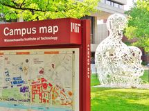 Massachusetts Institute of Technology (M I T ) i Cambridge MOR Arkivfoto