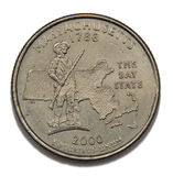 Massachusetts quarter dollar Royalty Free Stock Photo