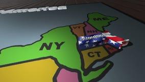 Massachusetts retira do mapa das abreviaturas dos estados dos EUA ilustração do vetor