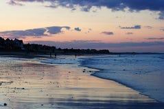 Massachusetts solnedgång Arkivbilder