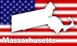Massachusetts state contour Stock Photo