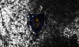 Massachusetts state grunge flag, United States Of America. Massachusetts state flag, United States Of America stock image
