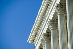Massachusetts State House. Corinthian Columns at the Massachusetts State House Royalty Free Stock Photography