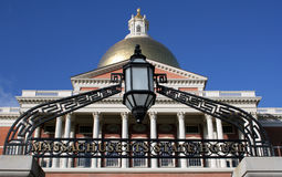 Massachusetts State House. In Boston royalty free stock images